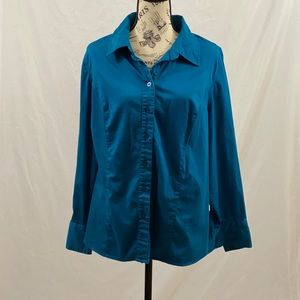 Lane Bryant Button Down Blue Size 18/20W